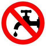 Sauvez le signe de l'eau Images stock