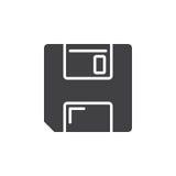 Sauvez le symbole vecteur à disque souple d'icône, Photographie stock libre de droits