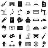 Sauvez les icônes d'énergie réglées, style simple illustration stock