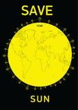 Sauvez votre soleil Illustration de Vecteur