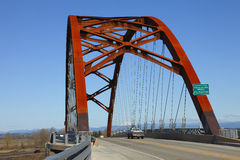 Sauvie Inselbrücke. Lizenzfreies Stockfoto