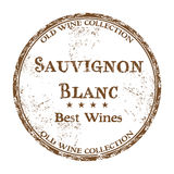 Sauvignon Blanc-Schmutzstempel Stockfoto