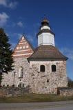 Sauvo Kirche und Belltower, Finnland Lizenzfreie Stockfotografie