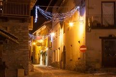 Sauze d 'Oulx é uma estância de esqui em Itália do norte, perto de Turin, 2013 imagem de stock royalty free