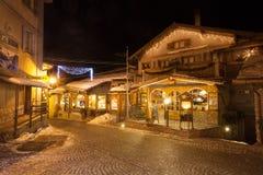 Sauze D 'Oulx is een skitoevlucht in Noordelijk Italië, dichtbij Turijn, 2013 stock foto