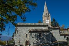 ` Sauze d Oulx-Kirche 2 Stockbilder