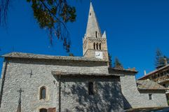 ` Sauze d Oulx-Kirche 4 Lizenzfreies Stockbild