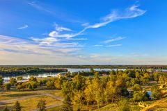 Sava και οι ποταμοί Δούναβη Στοκ εικόνες με δικαίωμα ελεύθερης χρήσης