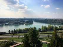 Sava and Danube Stock Images