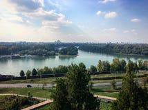 Sava en Donau Stock Afbeeldingen