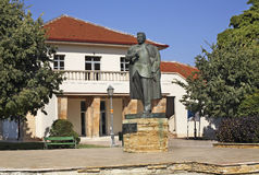 Sava Mihaylov-monument in Gevgelija macedonië royalty-vrije stock afbeeldingen