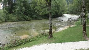 sava river bohinj Slovenia 100138 stock video