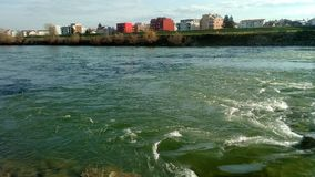Sava River Water in Zagreb Stock Images