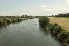 Sava river at Zagreb, Croatia Royalty Free Stock Photography