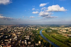 Sava rzeka od powietrza Obraz Royalty Free