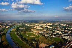 Sava rzeka od powietrza Fotografia Royalty Free