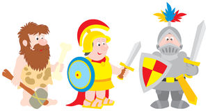 Savage, ancient soldier, knight Stock Images