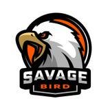 Savage bird. Eagle sports logo. Vector illustration Stock Image