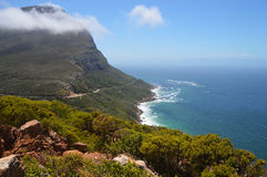The savage cliff at Cape of good hope Royalty Free Stock Image