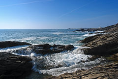 The savage coast of Quiberon Royalty Free Stock Photos