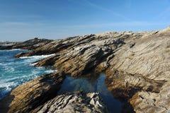 The savage coast of Quiberon Royalty Free Stock Photography