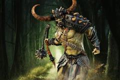 Savage Orc Brute que corre na batalha ilustração do vetor