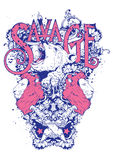 Savage spirits. Vector illustration ideal for printing on apparel clothing Royalty Free Stock Image