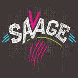 Savage t-shirt graphics Stock Image