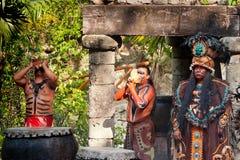Savage tribe of Mayan Royalty Free Stock Photography
