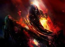 Free Savage Warrior Battle Scene Artwork. Stock Photography - 45883992