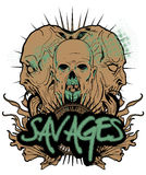 Savages Royalty Free Stock Images