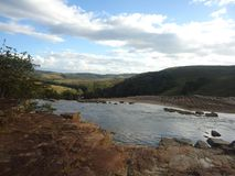 savana amazon Venezuela della cascata dell'acqua grande fotografia stock libera da diritti