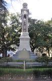 Savana, o 8 de agosto: Wright Square Monument do savana em Geórgia EUA fotos de stock