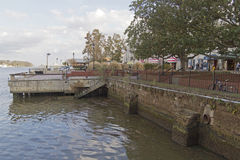 Savanah River Docks and Riverwalk Royalty Free Stock Photography
