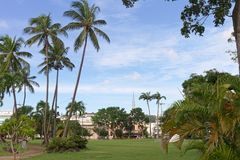 Savanepark - Fort de France - Martinique royalty-vrije stock foto's