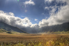 The savanna. Hdr photo of bromo indonesia savanna extreme wide angle Royalty Free Stock Photo
