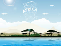 Savanna africana Fotografia Stock