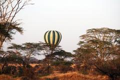 Savanna air-balloon Royalty Free Stock Photography