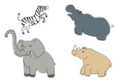 Savanna animals for children Stock Images