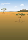 Savanna landscape Stock Photos