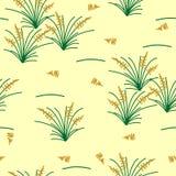 Elegant, nature insprired monochromatic vector seamless pattern. stock illustration
