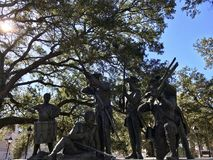 Haitian Monument to Revolutionary War Soldiers in Savannah, Georgia. Savannah's Haitian Monument commemorates the contribution of the Chasseurs-Volontaires de Royalty Free Stock Photos