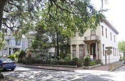 Savannah Augusti 7th: Historisk byggnad från Savannah i Georgia USA Royaltyfria Bilder