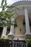 Savannah Augusti 7th: Historiska husdetaljer från Savannah i Georgia USA Royaltyfri Bild