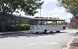 Savannah Augusti 7th: Sightbuss från Savannah i Georgia USA Arkivfoton