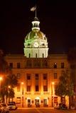 Savannah city hall. Building at night royalty free stock photography