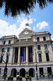Savannah City Hall aka Civic Center with gold dome and clock Stock Photo