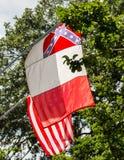 Savannah Flag with American Flag Behind Stock Photos