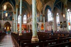 SAVANNAH, GA, USA, JULLY 20, 2015: Inside the cathedral of St. John the Baptist in Savannah, GA. stock photography