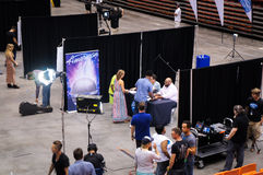 Savannah, GA, USA - June 22, 2015 - American Idol Auditions in front of judge Ruben Studdard Royalty Free Stock Photography